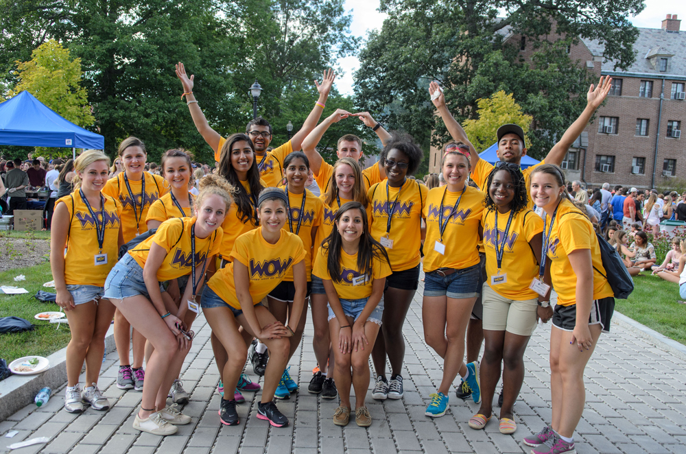 Husky WOW leaders pose for a photo at the Husky WOW Barbecue on Fairfield Way