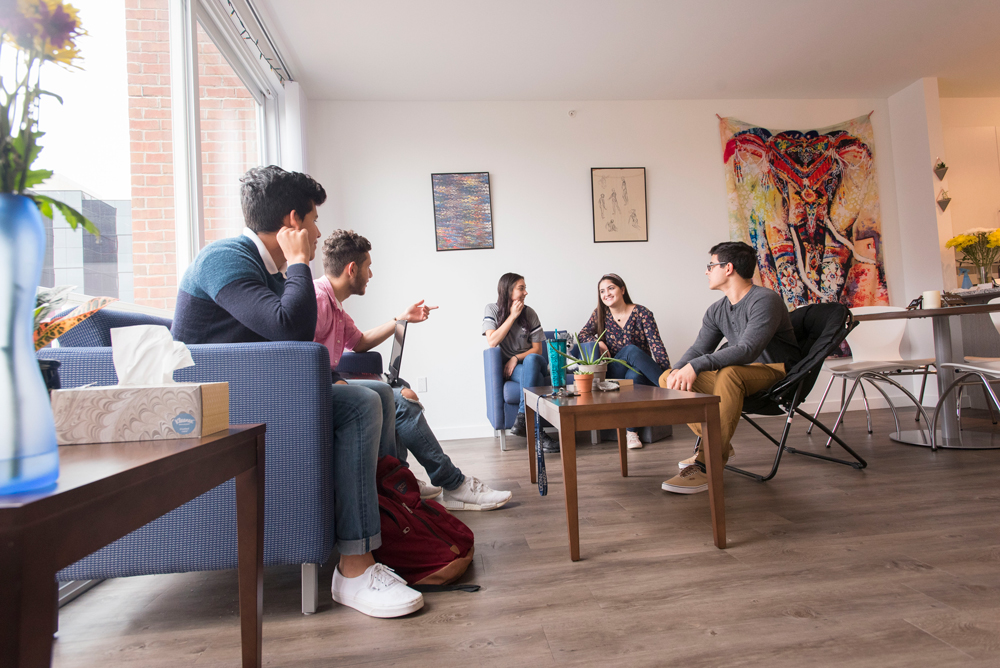 Students in an apartment